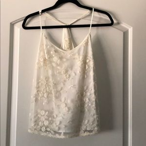 Anthropologie E by Eloise Ivory Cream Lace cami